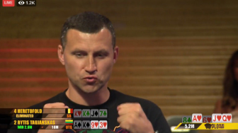 the big wrap plo king's casino rytis taujanskas